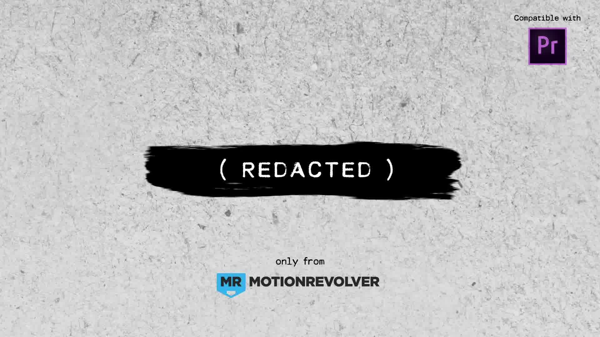 Redacted Titles | MOGRT for Premiere Pro - Download Videohive 21879662