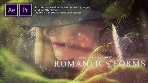 Romantic Forms Particles Slideshow - 31368899 Download Videohive