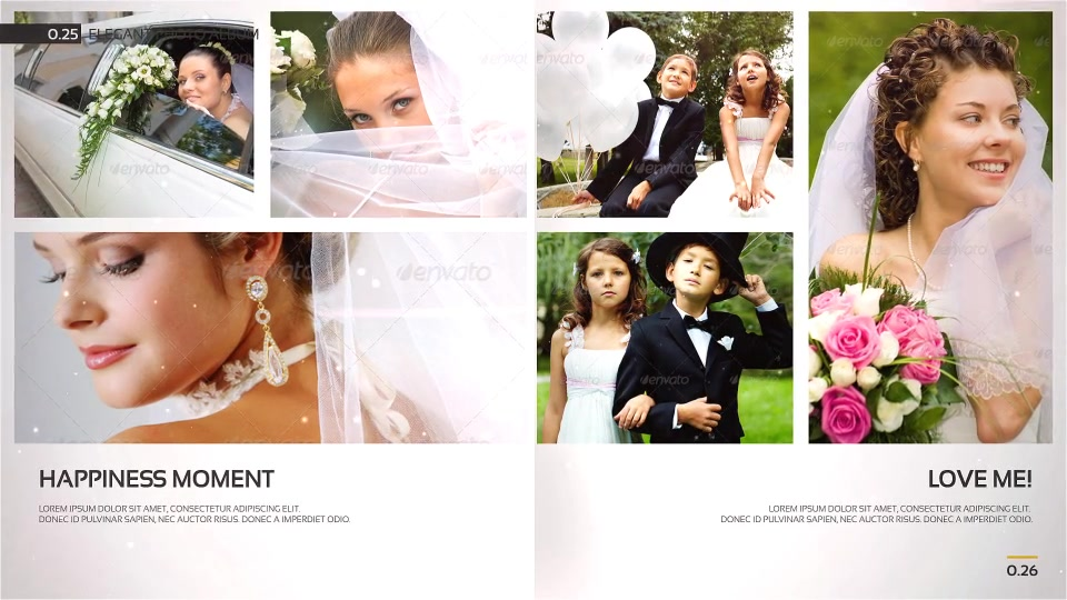 Romantic Wedding Elegant Photo Album - Download Videohive 18768546