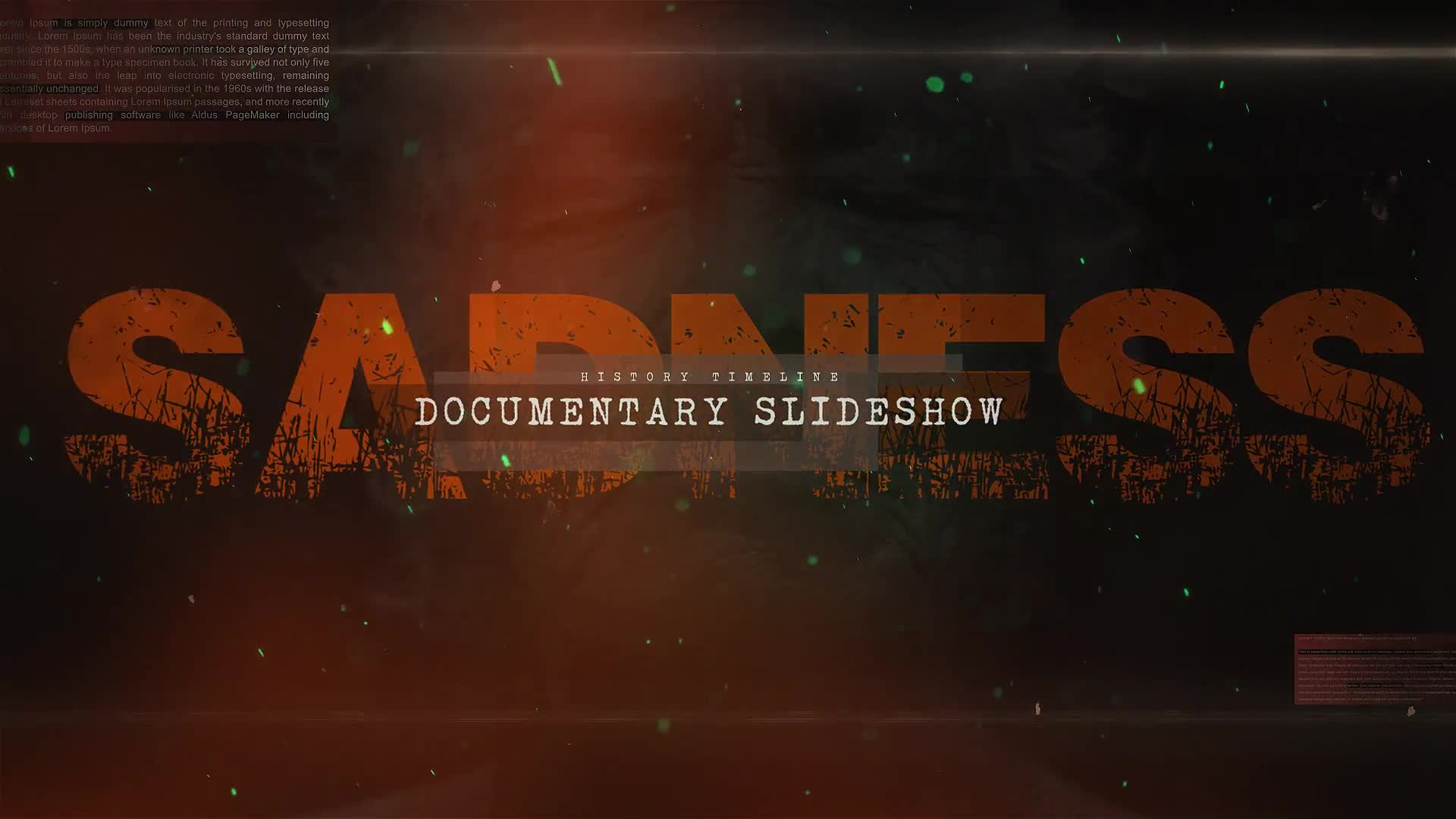 Sad Documentary Story Slideshow - Download Videohive 22024595