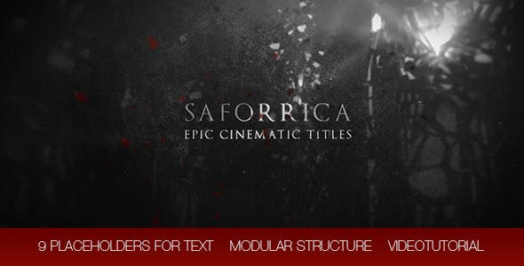 Saforrica Epic Cinematic Trailer / Titles - 11639580 Download Videohive