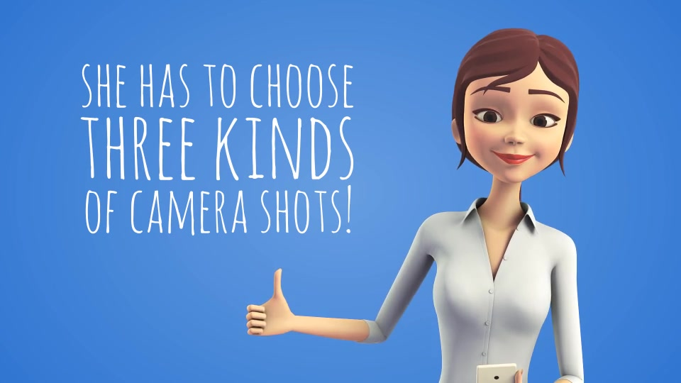 Sara 3D Character with Smartphone Female Presenter for Mobile App - Download Videohive 15887749
