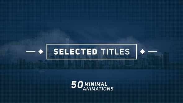 Selected Titles 2 | 50 Minimal Titles - Download Videohive 20115148