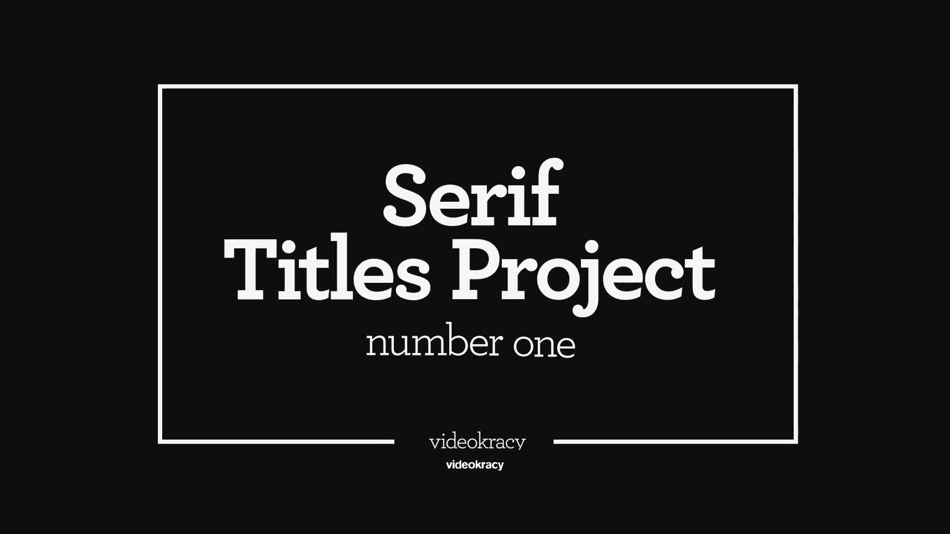Serif Titles Mogrt files - Download Videohive 21945846