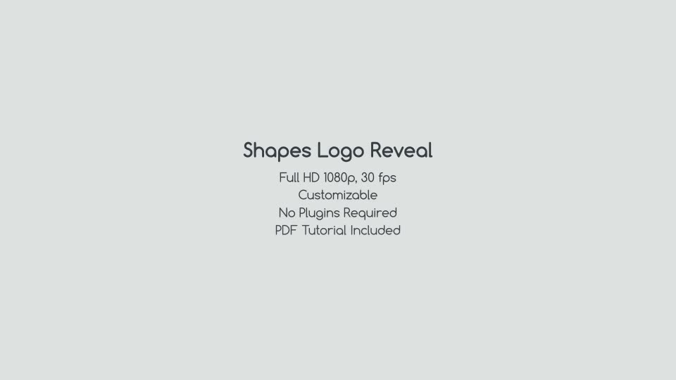 Shapes Logo Reveal - Download Videohive 12852128