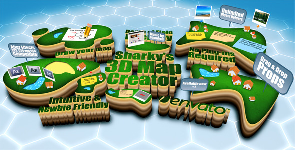 Sharkys 3D Map Creator V1.0 - Download Videohive 1538584