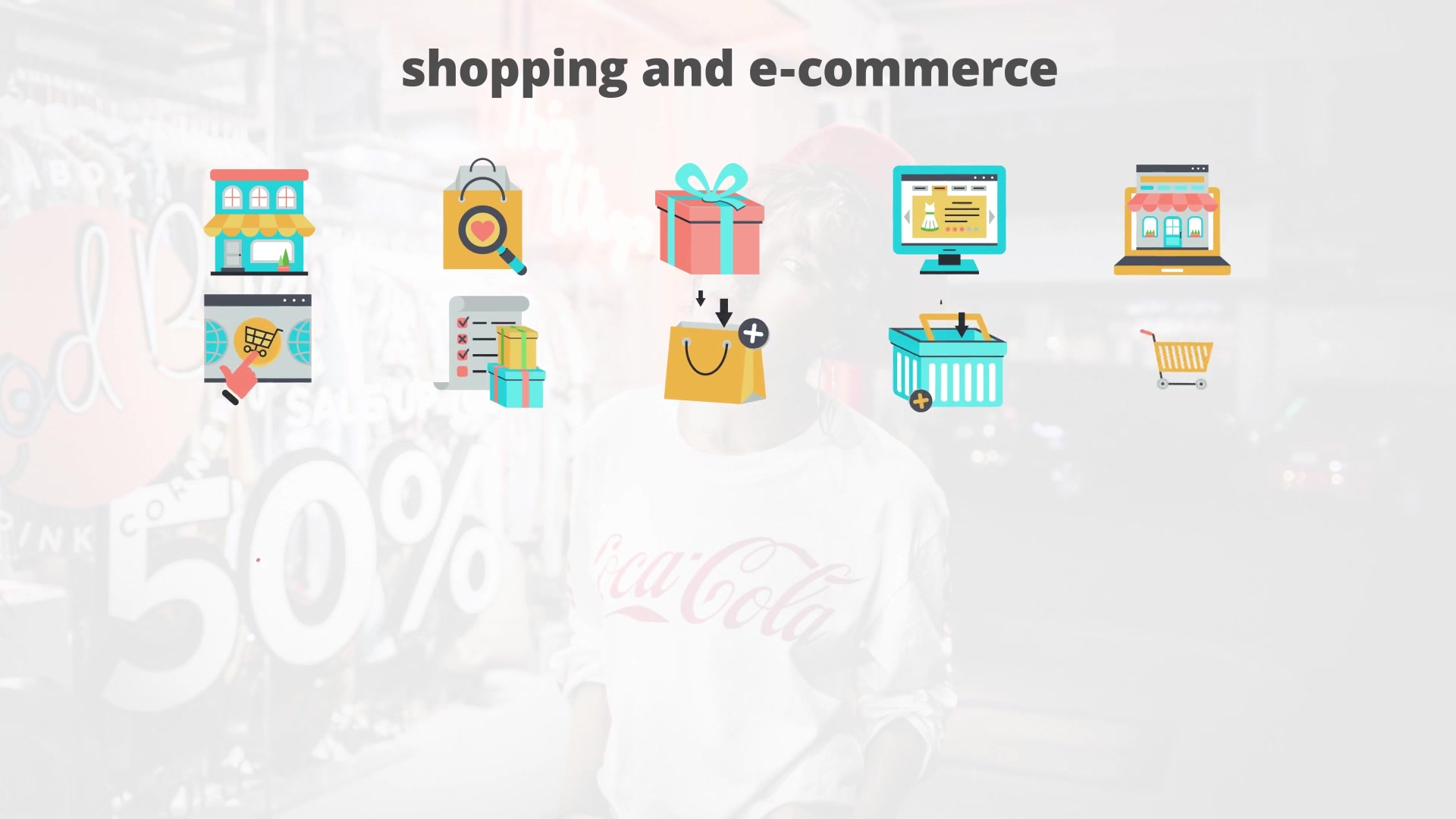 Shoping And Ecommerce Flat Animation Icons - Download Videohive 23465995