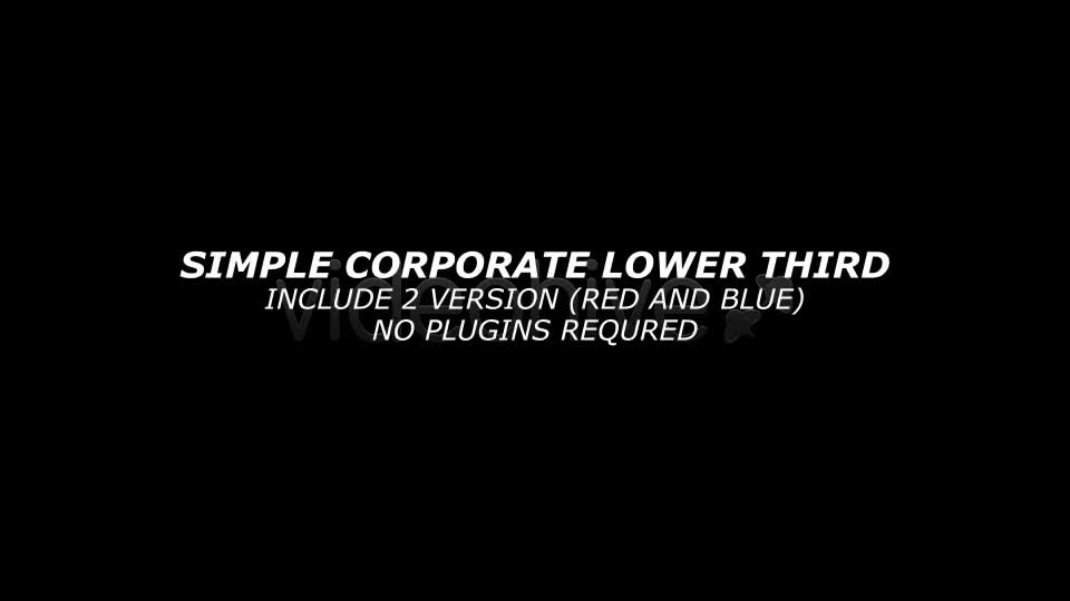 Simple Corporate Lower Third - Download Videohive 1259445