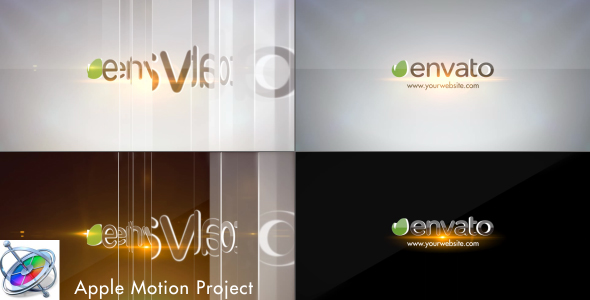 Simple Glossy Slider Logo Apple Motion - Download Videohive 20096645