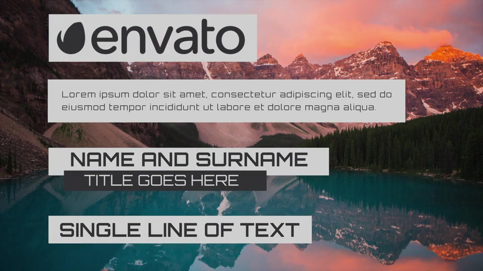 Simple Lower Third 3.0 - Download Videohive 9472720