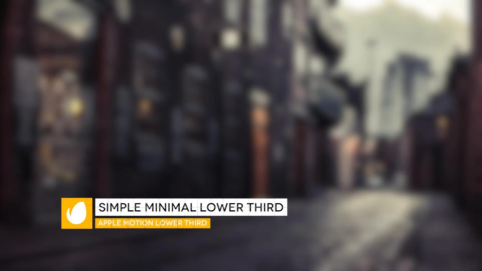 Simple Minimal Lower Third - Download Videohive 13179930