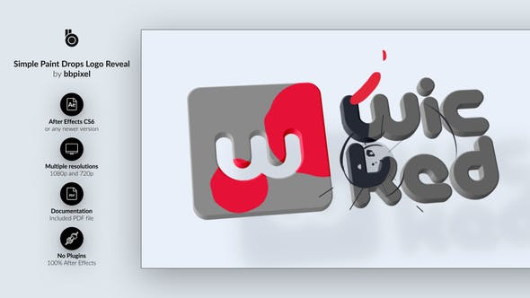 Simple Paint Drops Logo Reveal - Download Videohive 23181200