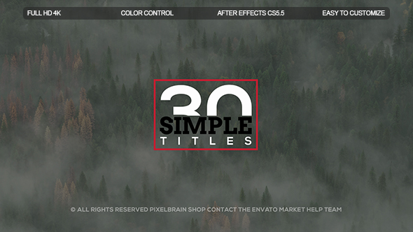 Simple Titles II - Download Videohive 20068606