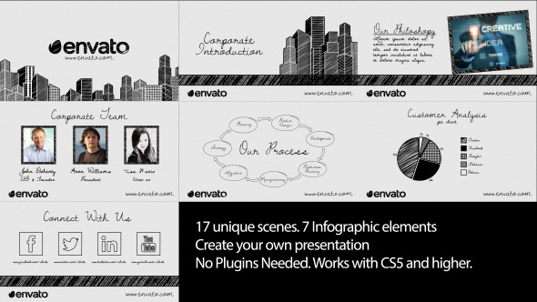 Sketch Corporate Video Pack - Download Videohive 12326488
