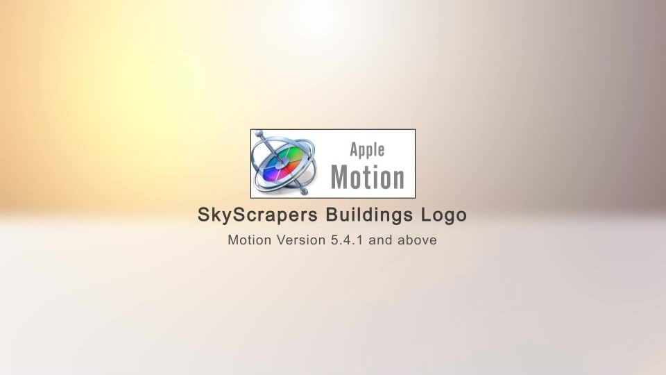 SkyScrapers Buildings Logo Apple Motion - Download Videohive 22749292