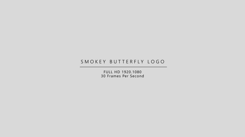 Smokey Butterfly Logo - Download Videohive 21413865
