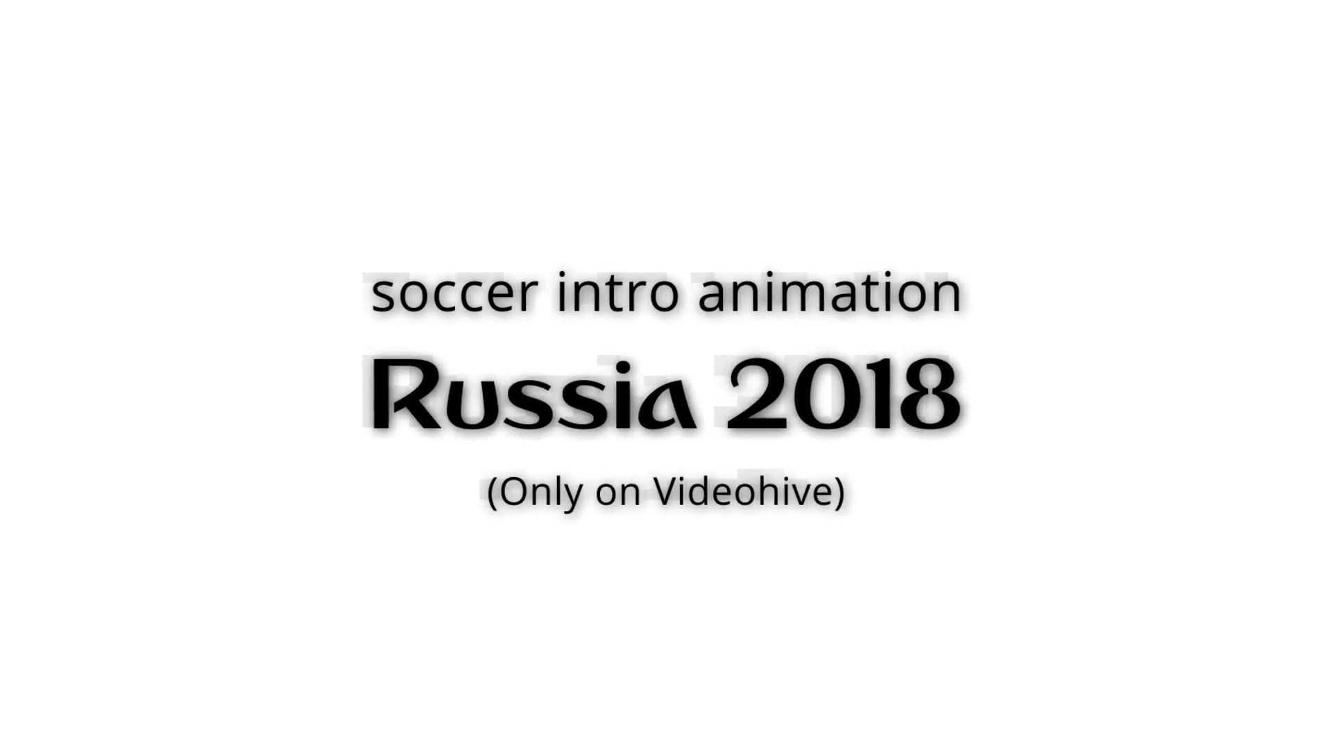 Soccer Intro Animation For Premiere Pro - Download Videohive 22032378