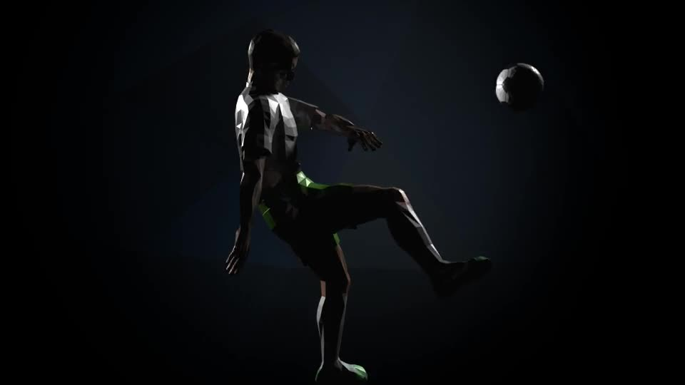 Soccer Kick Player Logo Videohive 16437927 After Effects Image 1