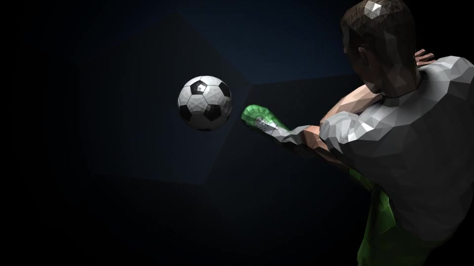 Soccer Kick Player Logo Videohive 16437927 After Effects Image 2