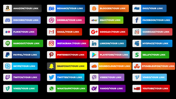 Social Media Lower Thirds - Download Videohive 23115915