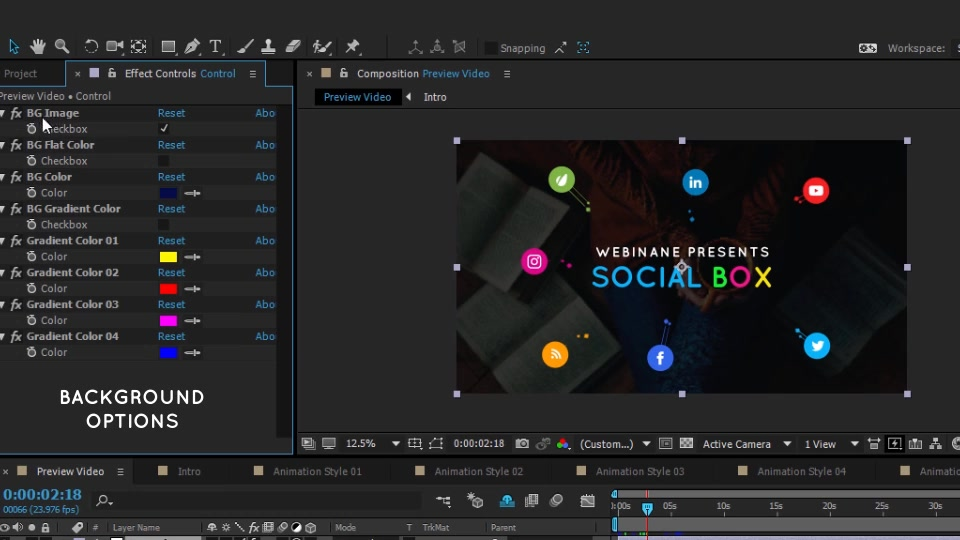 SocialBox Social Media Intro and Outro for Social Media Links Promotion - Download Videohive 20534548