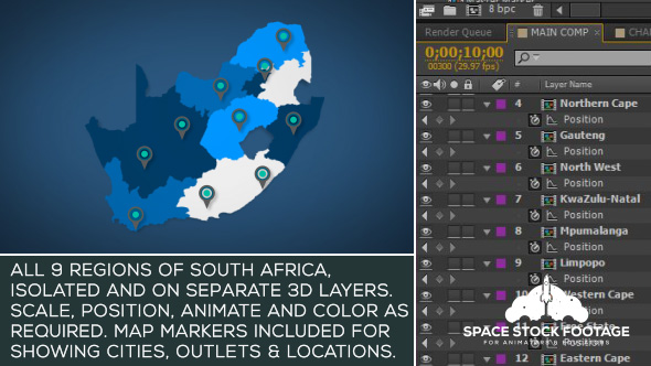 South Africa Map Kit - Download Videohive 18328692
