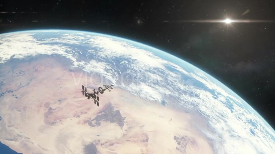 Spaceship Orbiting Earth - Download Videohive 18767694