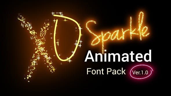 Download Sparkle Animated Font Pack Version 2.00 Videohive 21008308 ...