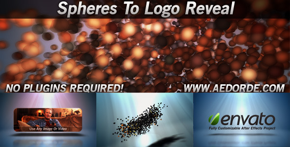 Spheres To Logo Reveal - Download Videohive 842862
