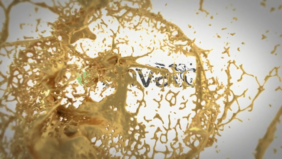 Splashing Gold Logo Reveal - Download Videohive 20228649