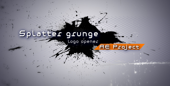 Splatter grunge Logo opener AE project - Download Videohive 130221