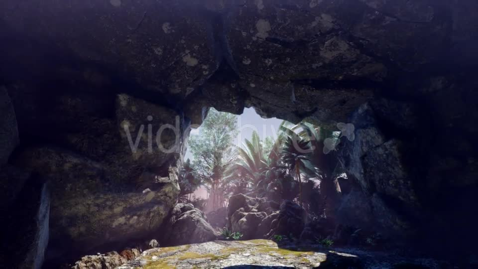 Sun Light Inside Mysterious Cave - Download Videohive 20880621