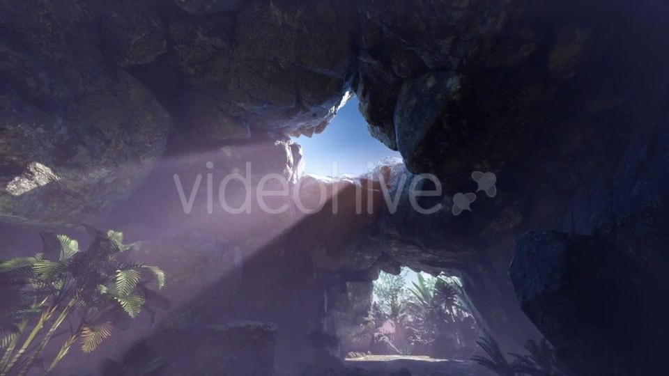 Sun Light Inside Mysterious Cave - Download Videohive 20907704