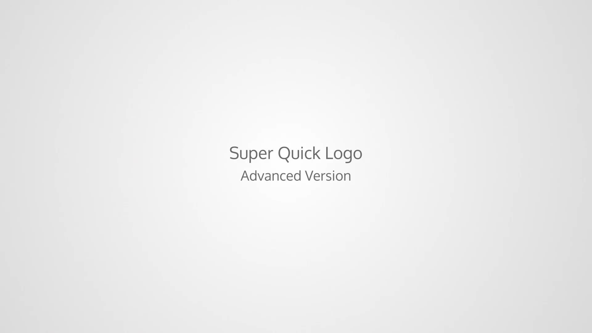 Super Quick Logo - Download Videohive 18047433