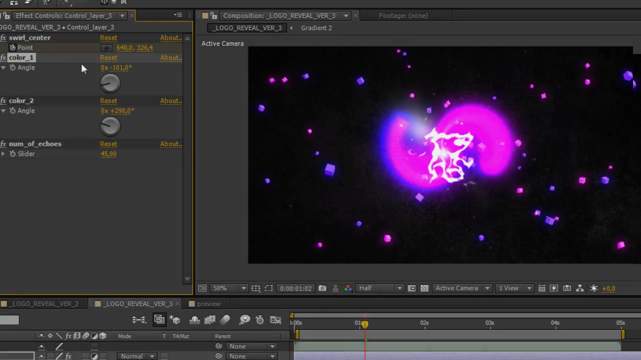 Swirling Lights Logo Reveal 3 in Pack - Download Videohive 6813791