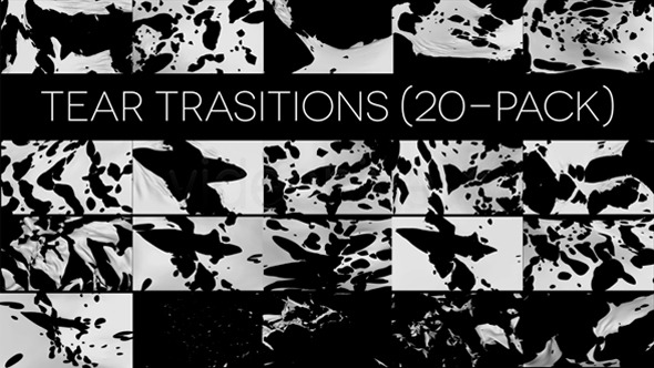 Tear Transitions (Pack of 20) - Download Videohive 6267581
