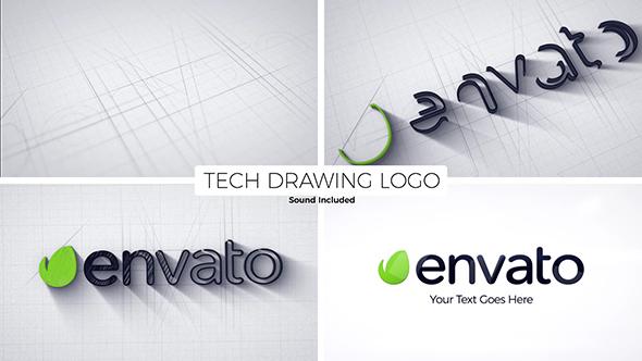 Tech Drawing Logo - Download Videohive 21457792