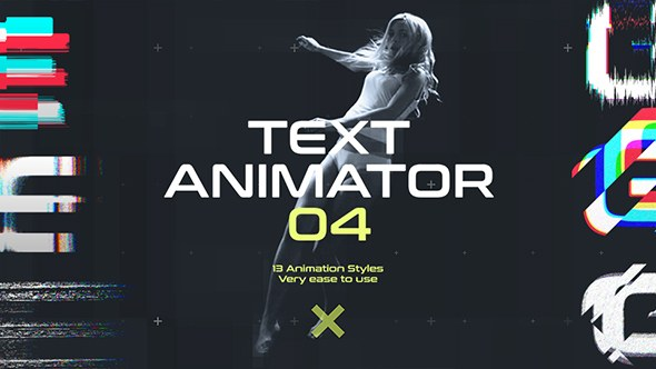 Text Animator 04: Motion Glitch Titles - Download Videohive 19573411