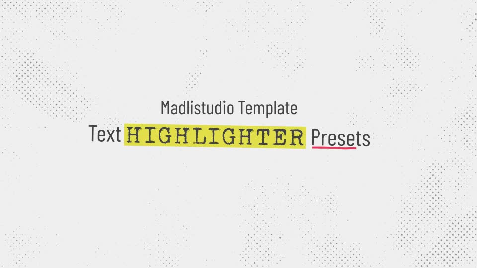 Text Highlighter Presets Videohive 28871094 After Effects Image 1