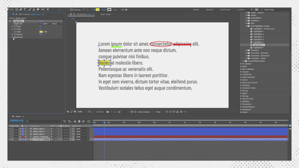 Text Highlighter Presets Videohive 28871094 After Effects Image 10