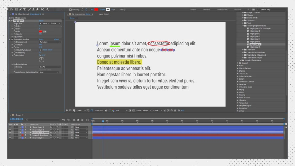 Text Highlighter Presets Videohive 28871094 After Effects Image 11