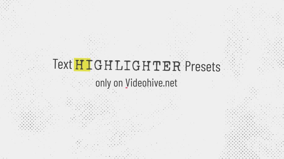 Text Highlighter Presets Videohive 28871094 After Effects Image 12