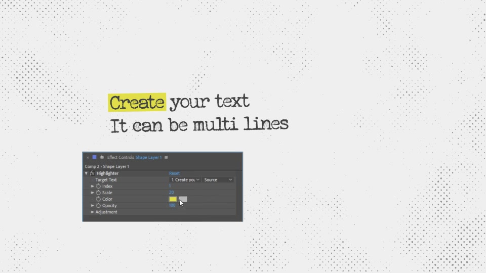 Text Highlighter Presets Videohive 28871094 After Effects Image 3