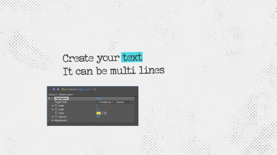 Text Highlighter Presets Videohive 28871094 After Effects Image 4