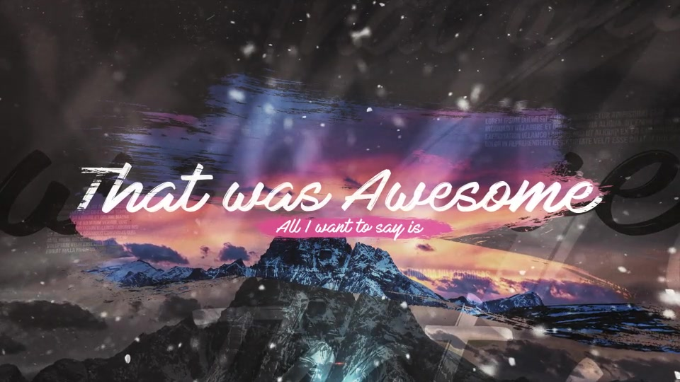 That Was Awesome Brush Travel Slideshow - Download Videohive 20318572