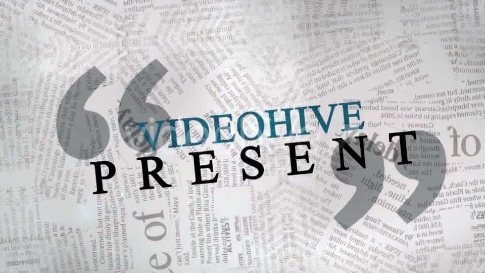 The Newspaper Project Videohive 163193 After Effects Image 1