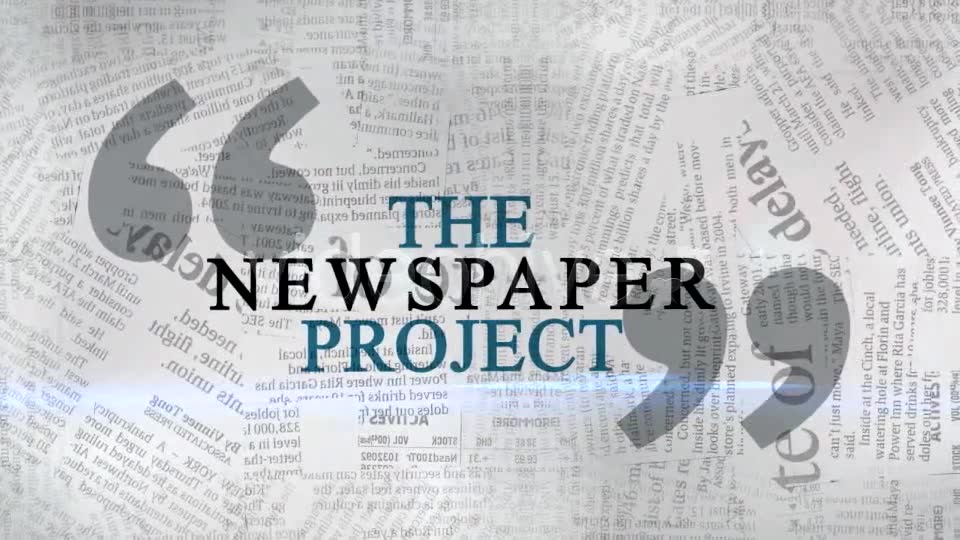 The Newspaper Project Videohive 163193 After Effects Image 2