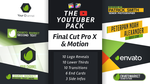 The YouTuber Pack Final Cut Pro X - Download Videohive 19539344