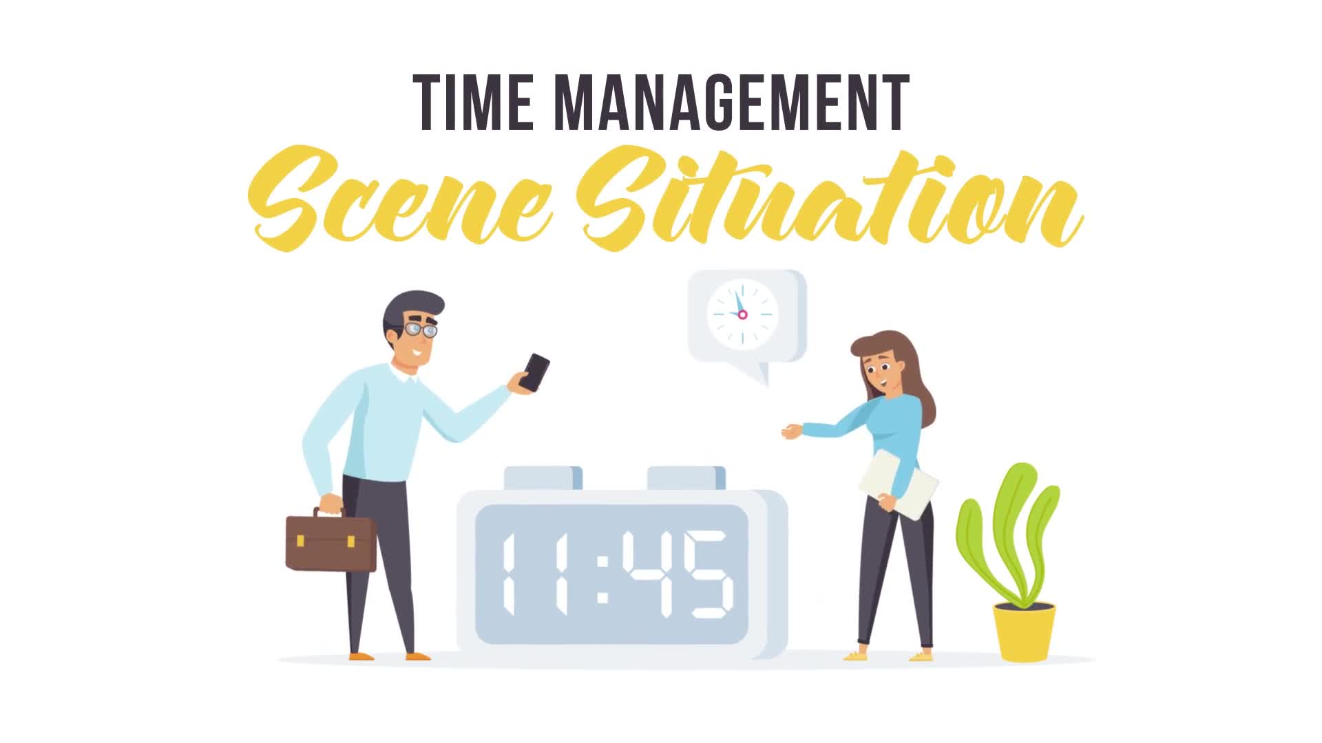 Time Management Scene Situation 27608436 Videohive Direct Download After Effects