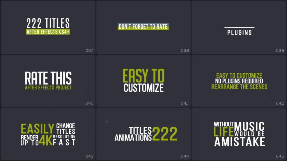 Titles Animation - Download Videohive 19495140